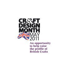 An opportunity to help raise the profile of British Crafts - Craft and ...