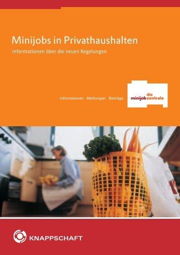 Minijobs in Privathaushalten - reichert & reichert