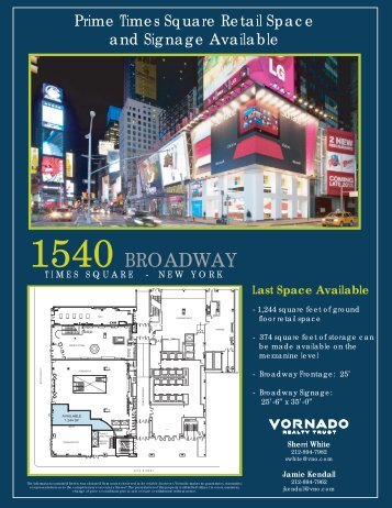 1540 Broadway Flyer_revised 2.2013.ai - Vornado New York Office