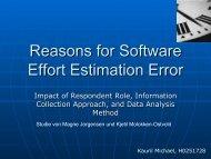 Reasons for Software Effort Estimation Error