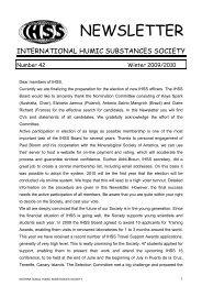 IHSS NL 42 (2009-10) - International Humic Substances Society