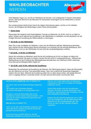 wahlbeobachterAFD - Alternative für Deutschland – Landesverband ...
