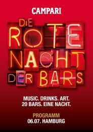 music. Drinks. art. 20 bars. eine nacht. Programm 06.07. hamburg