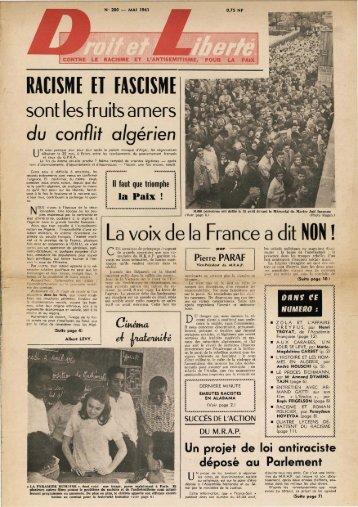 RACISME ET FASCISME - Archives du MRAP