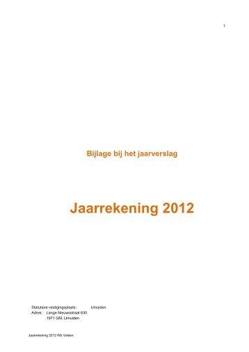 Jaarrekening 2012 - Woningbedrijf Velsen