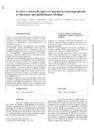 In-vitro-Untersuchungen zur gepulsten Laserangioplastie in ...