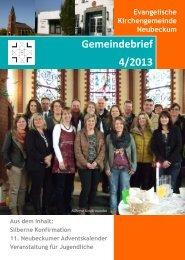 Evangelische Kirchengemeinde Neubeckum Gemeindebrief 4/2013