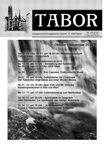 Der aktuelle Taborbote - Evangelische Tabor-Gemeinde in Berlin ...