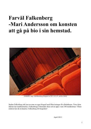 Farväl Falkenberg -Mari Andersson om konsten att ... - Region Halland