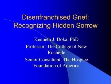 Disenfranchised Grief - Cruse Bereavement Care