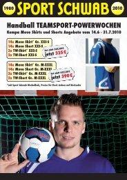 Handball TEAMSPORT-POWERWOCHEN Verlosung - Sport Schwab