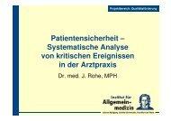 Patientensicherheit – Systematische Analyse von kritischen ...