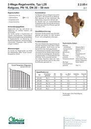 2.2.05-I 2-Wege-Regelventile, Typ L2S Rotguss ... - Clorius Controls