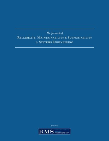 The Journal of Reliability, Maintainability ... - RMS Partnership