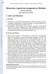 Historische Aspekte der komparativen Methode - Hprints.org