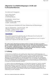 Allgemeine Geschäftsbedingungen (AGB) und ... - Windeit