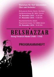 Programmheft - Messias-Chor