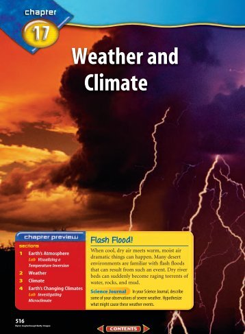 CHAPTER 17 Weather and Climate - Mr. Barrow's Science Center