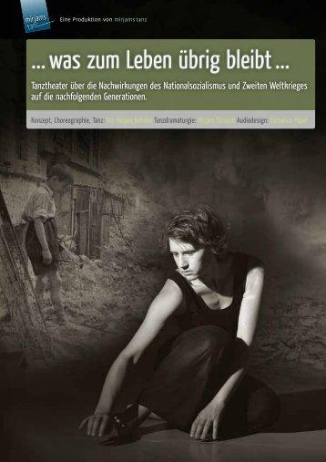 was zum Leben übrig bleibt - Iris-Mirjam Behnke