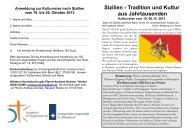 Flyer zur Kulturreise - Evangelische Frauenhilfe im Rheinland