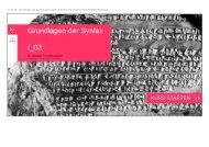 1 von 22 Grundlagen der Syntax 2013 03/Dr. Zakharia ...