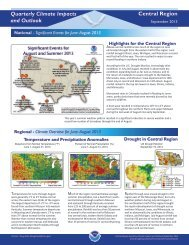 Central Region Quarterly Climate Impacts and ... - US Drought Portal