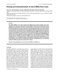 Cloning and characterization of micro-RNAs from moss - Agricultural ...