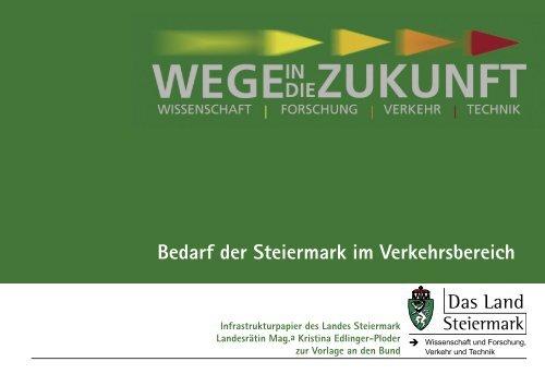 Broschüre Infrastrukturbedarf Land Steiermark - Großraum Graz ...