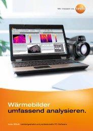 Bedienungsanleitung testo Software Wärmebildkameras IRSoft