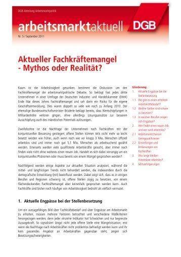 Aktueller Fachkräftemangel - Mythos oder Realität? - Alfred Mente