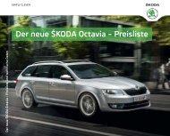 Der neue ŠKODA Octavia – Preisliste - Auto-Kaufberatung.at