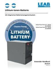 Handbuch Lithium Power System - Deutsch - LEAB Automotive