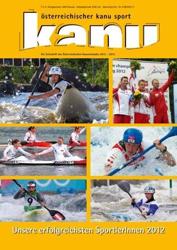aktuelle Ausgabe der Kanusportzeitung - Wiener Kanuverband