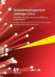 Schadenmanagement Umfrage 2013 - Schweiz