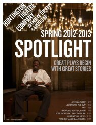 SPRING 2012-2013 - Huntington Theatre Company