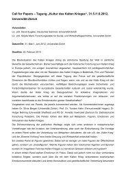 "Call for Papers – Tagung ""Kultur des Kalten Krieges"", 31.5./1.6.2012 ..."