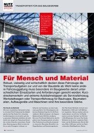 Nutzfahrzeuge Spezial - Transporter für das ... - SHK Profi