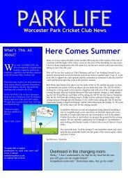 newsletter 8 - Worcester Park Cricket Club