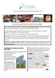 Bericht vom 29. September 2012 - ATD Vierte Welt