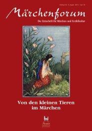 Von den kleinen Tieren im Märchen - Mutabor Verlag