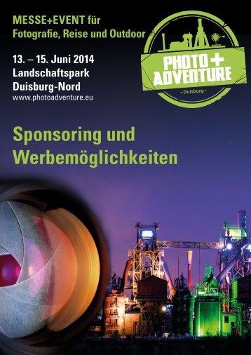 Sponsoring und Werbemöglichkeiten - Photo+Adventure Duisburg