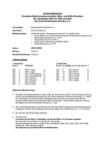 Ausschreibung - 1dsg.de
