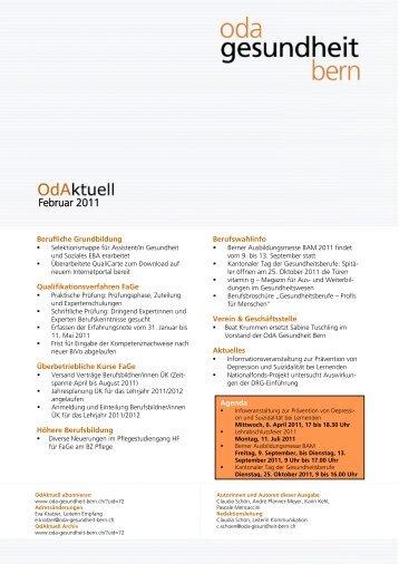 OdAktuell Oktober 2008 - OdA Gesundheit Bern