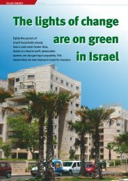 The lights of change are on green in Israel