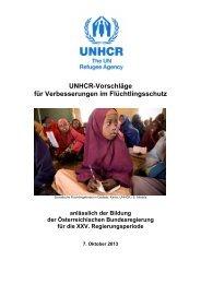 UNHCR-Vorschläge für Verbesserungen im Flüchtlingsschutz