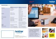 P-touch 9700PC/9800PCN: Vielseitige, professionelle ... - Distrelec