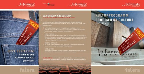 Flyer AboCultura (PDF) - La Fermata