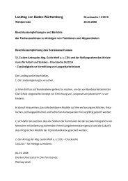 Beschlussempfehlung des Sozialausschusses - Guido Wolf