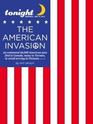 THE AMERICAN INVASION - tonight Newspaper