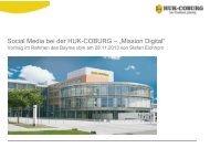 Social Media bei der HUK-COBURG - eBusiness-Lotse Oberfranken